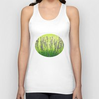 lavender Tank Tops featuring Lavender by Tanja Riedel