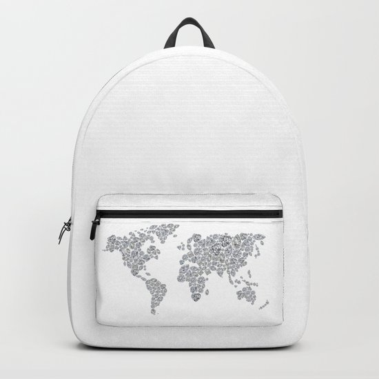 Diamonds World Map Backpack
