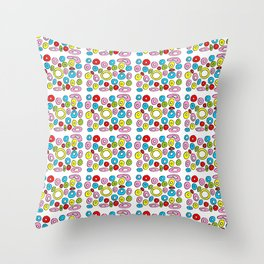Circle and abstraction 4-abstraction,abstract,geometric,geometrical,pattern,circle,sphere Throw Pillow