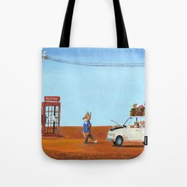 The Out of Service Phone Box Tote Bag
