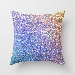 Purple Ombre Glitter Throw Pillow