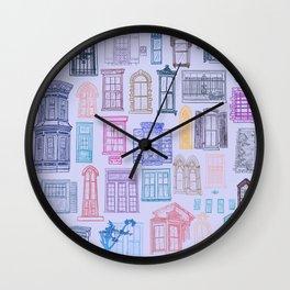 Windows of Downtown Savannah Wall Clock