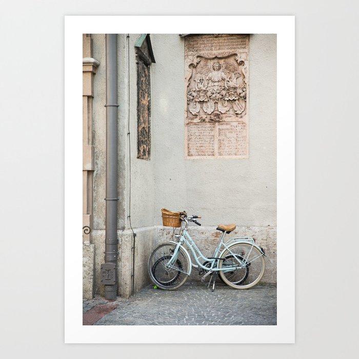 Peterskirche bicycles, Munich Kunstdrucke