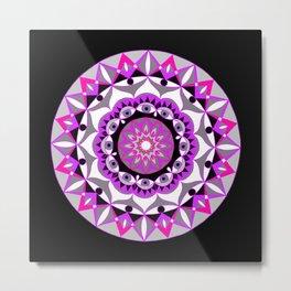 My Love Mandhala   Secret Geometry   Energy Symbols Metal Print