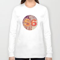 ferris wheel Long Sleeve T-shirts featuring Ferris Wheel S6 Tee by Marina Design