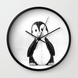 Quincy the Penguin Wall Clock