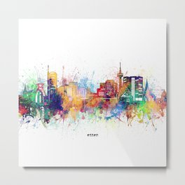 essen skyline artistic Metal Print