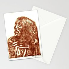 Native Etch in warm brown Stationery Cards