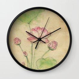 Lotus flower vintage Wall Clock