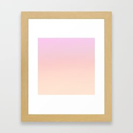 GRADIENT HORIZON - Minimal Plain Soft Mood Color Blend Prints Framed Art Print