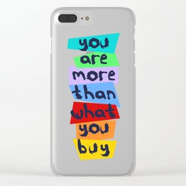 More Than Material Clear iPhone Case