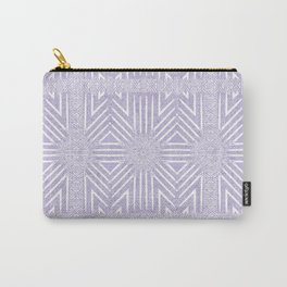 Nappy Faux Velvet Framed Wicker Repeat in Lilac Carry-All Pouch
