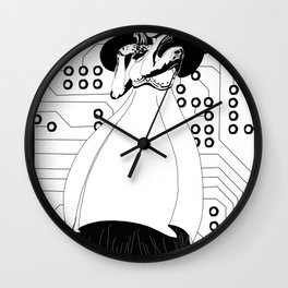 Singularity Android Art Nouveau Wall Clock