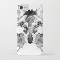 rorschach iPhone & iPod Cases featuring Rorschach by Robert Farkas