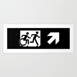Wheelchair Disabled Exit Sign, with Accessible Means of Egress Icon Art Print