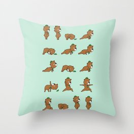 Yoga Bear Throw Pillow