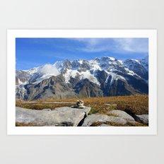 Trail Blazing the Alps Art Print