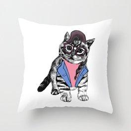 Cat Glasses Throw Pillow