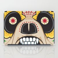 pit bull iPad Cases featuring Pit Bull Sugar Skull by Granman