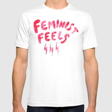 Feminist Feels SMALL Mens Fitted Tee White