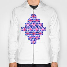 Watercolour Union Jack  Hoody