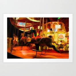 Midnight Carousel Ride Art Print