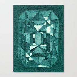 Emerald - Aquatint gemstone Canvas Print