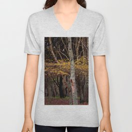 wonderful branches of yellow leaves Unisex V-Neck