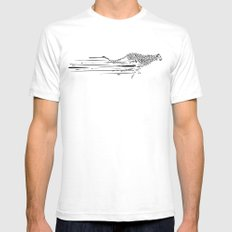 120km/h // (cheetah) White Mens Fitted Tee SMALL