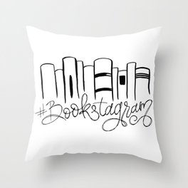 Bookstagram Throw Pillow