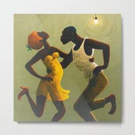 African American Masterpiece 'Hot Horn' by Orville Bulman Metal Print