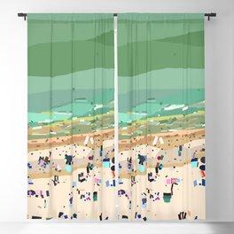 Geometric Brighton Beach bathing boxes, Melbourne, Australia Blackout Curtain