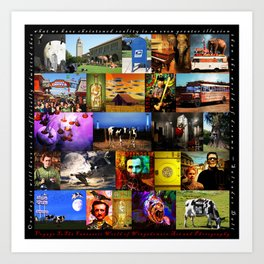 Voyage To The Fantastic World Of Wingsdomain Art And Photography 20150108 with text square Art Print
