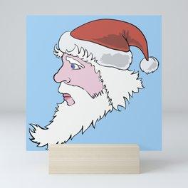 Head of Santa Claus Mini Art Print