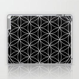 Flower of Life Black & White Laptop & iPad Skin