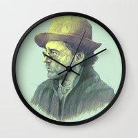 sherlock holmes Wall Clocks featuring sherlock holmes by Doruktan Turan
