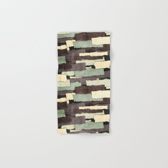 Textured Layers Abstract Hand & Bath Towel