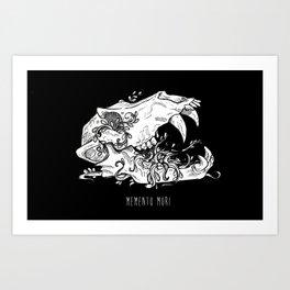 Memento Mori in Black Art Print