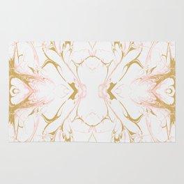 Pink mosaic marble Rug