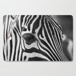 Zebra Portrait Cutting Board