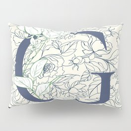 Monogram G Flowers & Vines Pillow Sham