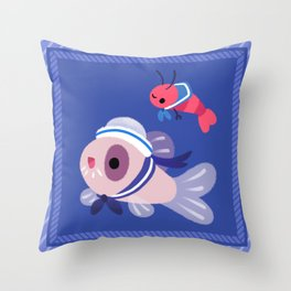 Cory cats on voyage Throw Pillow