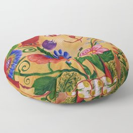 Flower Connection Floor Pillow