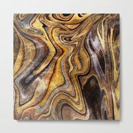 Tiger's Eye gemstone pattern Metal Print