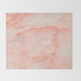 Dramaqueen - Pink Marble Poster Throw Blanket