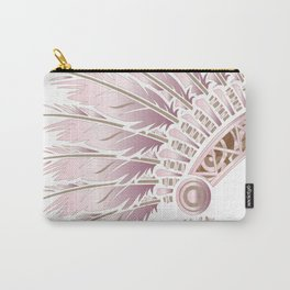 Pink Stencil headdress Carry-All Pouch