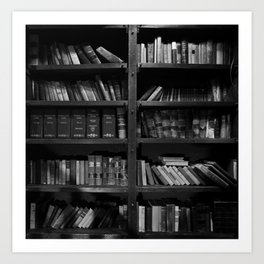 Antique Library Shelves - Books, Books and More Books Art Print
