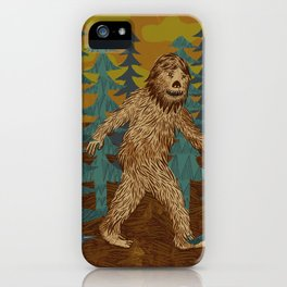 Bigfoot birthday card iPhone Case