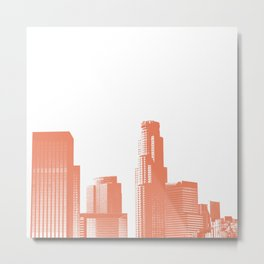 Orange Los Angeles skyline Metal Print