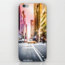 Big Apple Dream in the New York City Downtown Manhattan iPhone Skin
